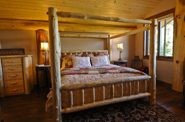 Bear Creek Cabin rustic bedroom. Bear Creek Cabin   Rustic   Bedroom   Denver   by Mountain Log