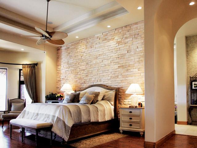 "Beautiful Bedroom 3"" Split Limestone Veneer Accent Wall ..."