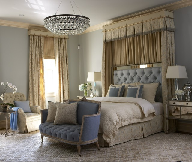 Beautiful bedrooms by cindy rinfret bedroom new york for Blue and taupe bedroom ideas