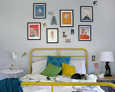 bed eclectic bedroom