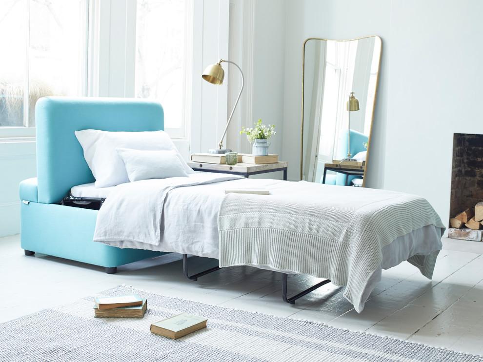 Trendy bedroom photo in London