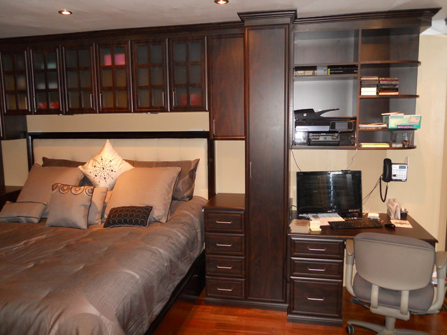 Bed Surround Contemporary Bedroom New York By