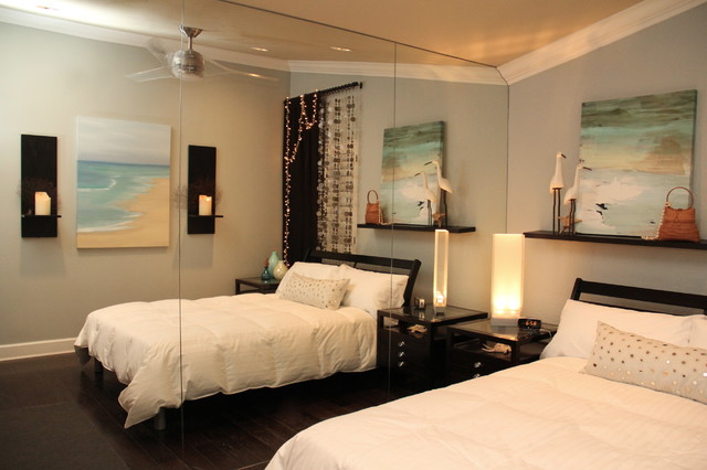 Bedroom beach inspired beach style bedroom san for Beach design rooms