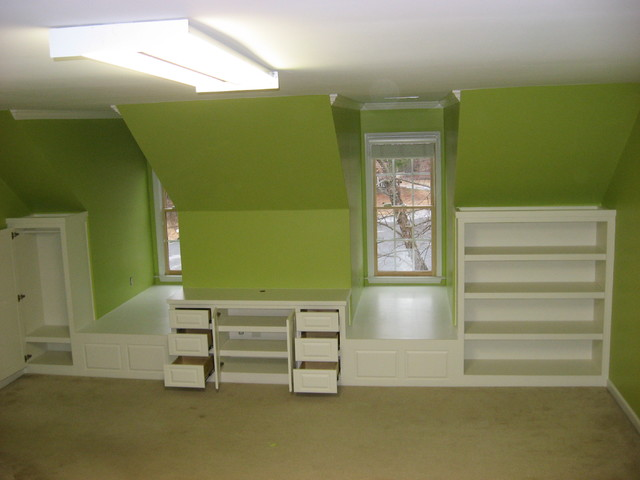 attic ideas houzz - Bedroom Dormer Built ins Traditional Bedroom atlanta