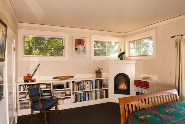 bedroom bookshelves. Bedroom Fireplace  Bookshelves craftsman bedroom Craftsman Portland