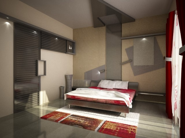 Bedroom interior designs for guest house contemporary other metro by ashwin architects - Guest house interior design ...