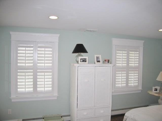 Bedroom Interior Shutters beach-style-bedroom