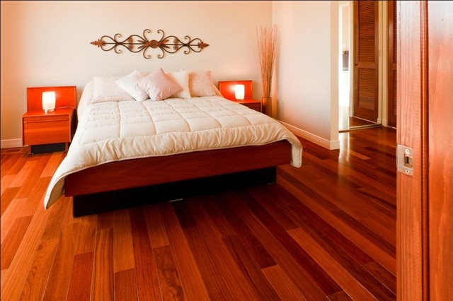 Cumaru flooring gananoque modern bedroom ottawa for Red cumaru flooring
