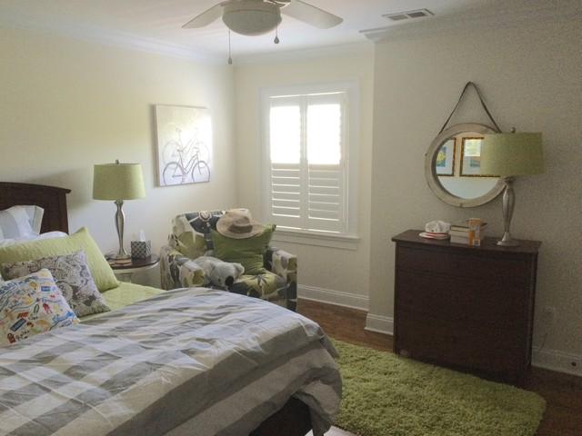 Bedroom plantation shutters beach style bedroom new for Plantation style bed