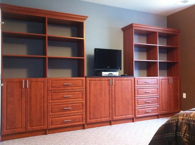 Awesome Bedroom Wall Unit Traditional Bedroom