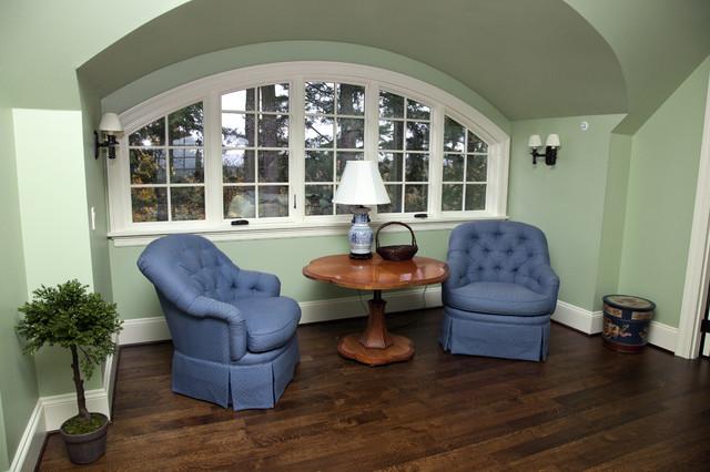 Elegant bedroom photo in Portland