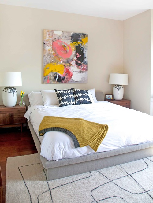 Contemporary Bedroom by New York Interior Designers & Decorators Allison Lind Interiors