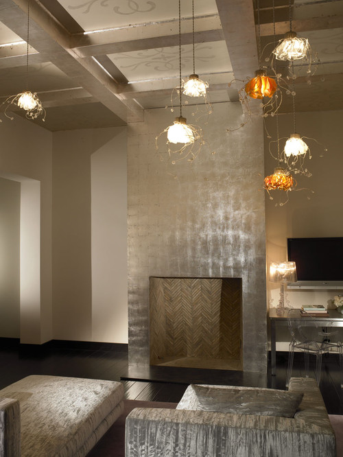 Silver Leaf Ceilings That Inspire Decadence Photos