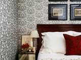 transitional bedroom Seeking a Quiet, Relaxed Spot? Try Upholstering Your Walls (17 photos)