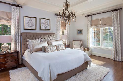 Классический интерьер спальни от дизайнера