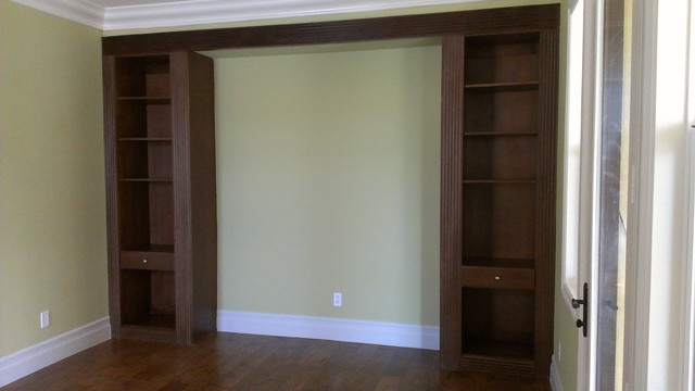 built in wall cabinets in bedroom 1