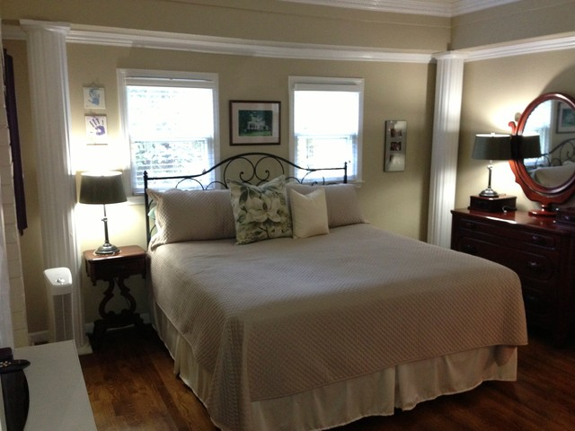 Before Staging Master Bedroom Occupied Home Overton Lea Road Oak Hill Traditional Bedroom