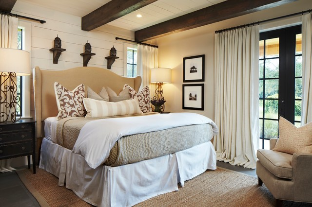 belgian chic cabin rustic bedroom