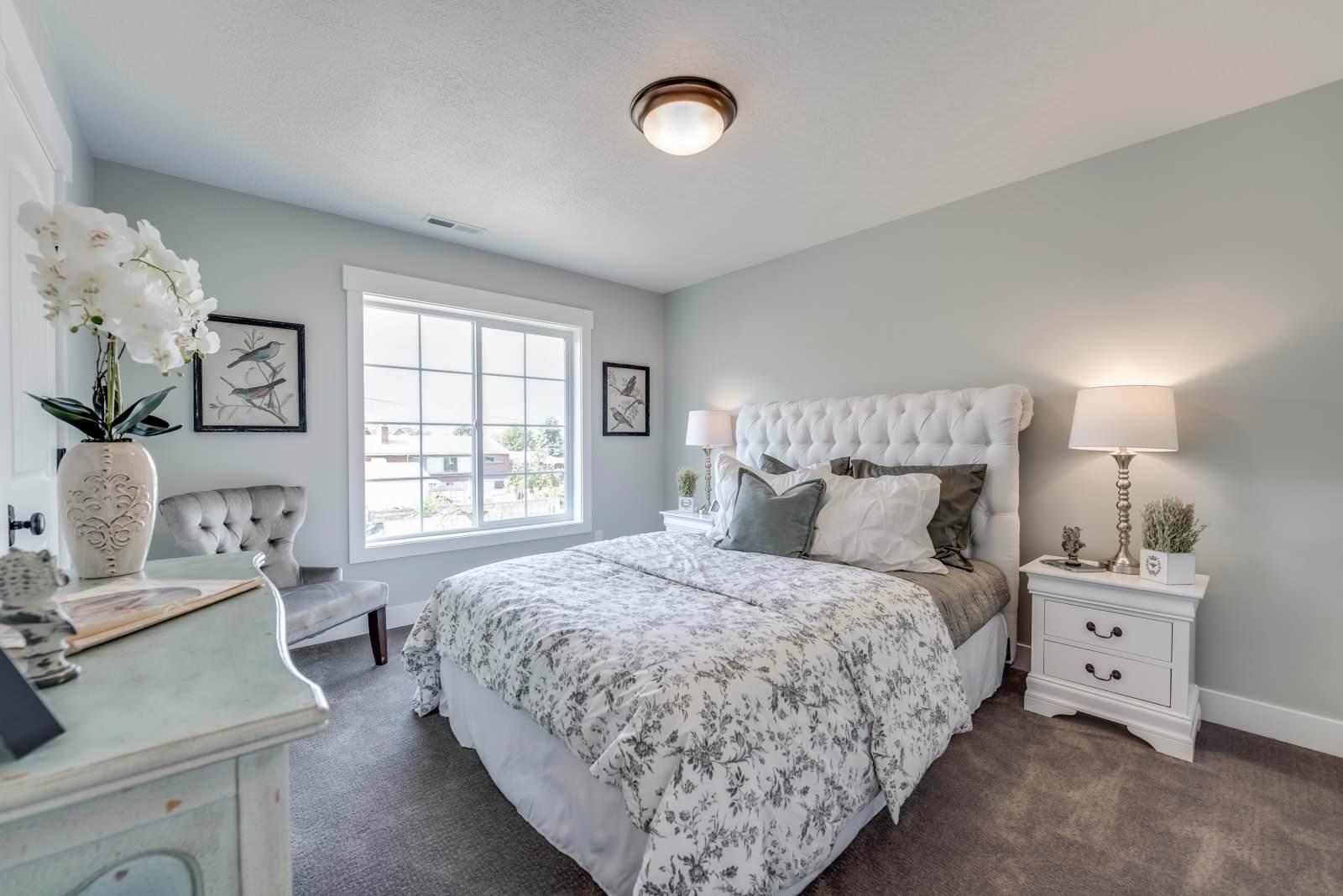 Silver Grey Bedroom Ideas And Photos  Houzz