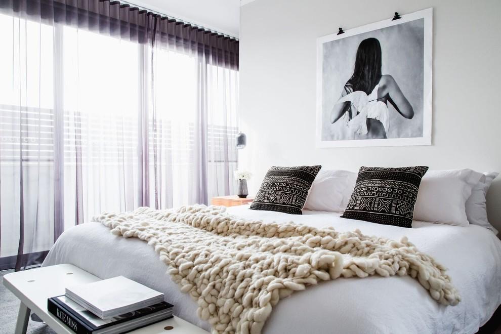 Danish bedroom photo in Melbourne