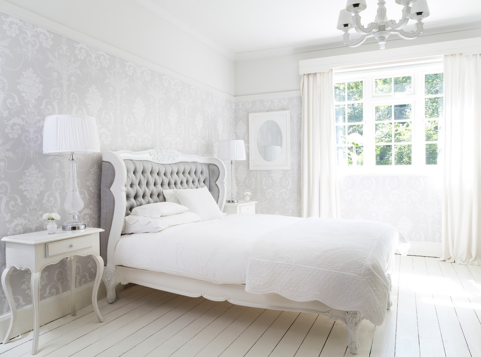 Bergerac Silk Upholstered Bed Shabby Chic Style Bedroom Sussex By The French Bedroom Company