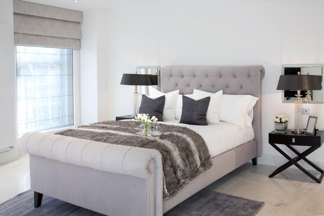 Berkley Court, London transitional-bedroom