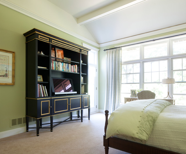 Bespoke Media Bookcase traditional-bedroom