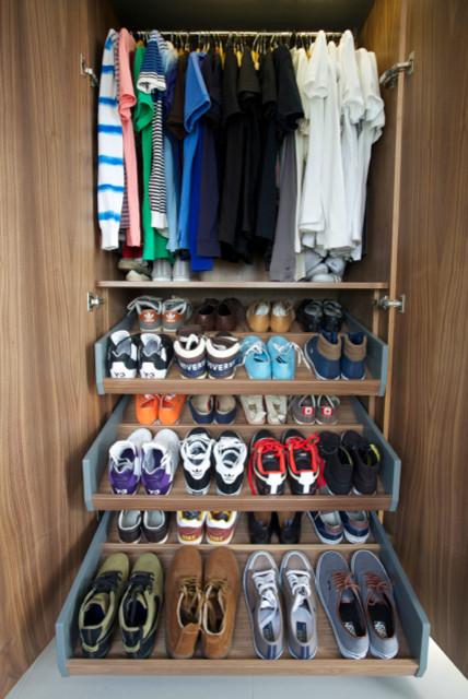 bespoke Shoe Storage - Contemporary - Bedroom - london - by Carpenter & Carpenter Ltd