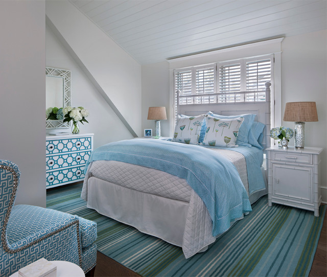 Colorful cottage beach style bedroom other metro for Coastal cottage bedroom ideas