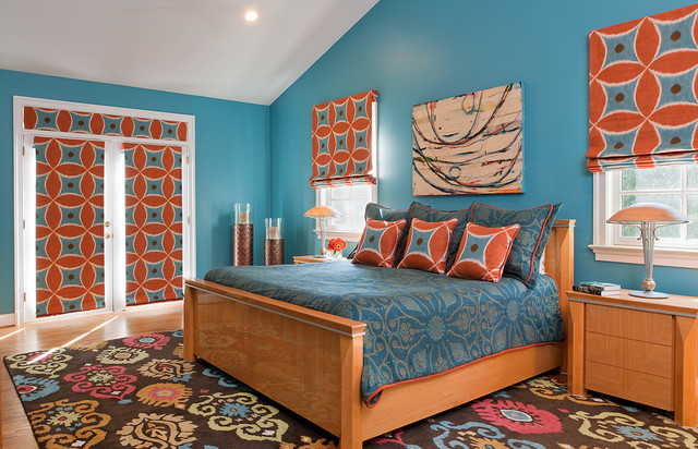 Bethesda Home Celebrating Vibrant Color And Pattern