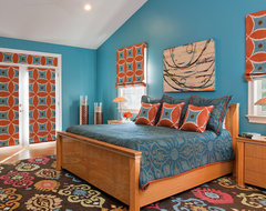 Bethesda Home Celebrating Vibrant Color and Pattern eclectic bedroom