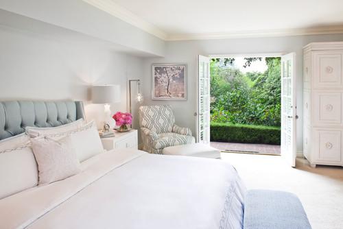 10 Winter White Interior Design Ideas  transitional bedroom