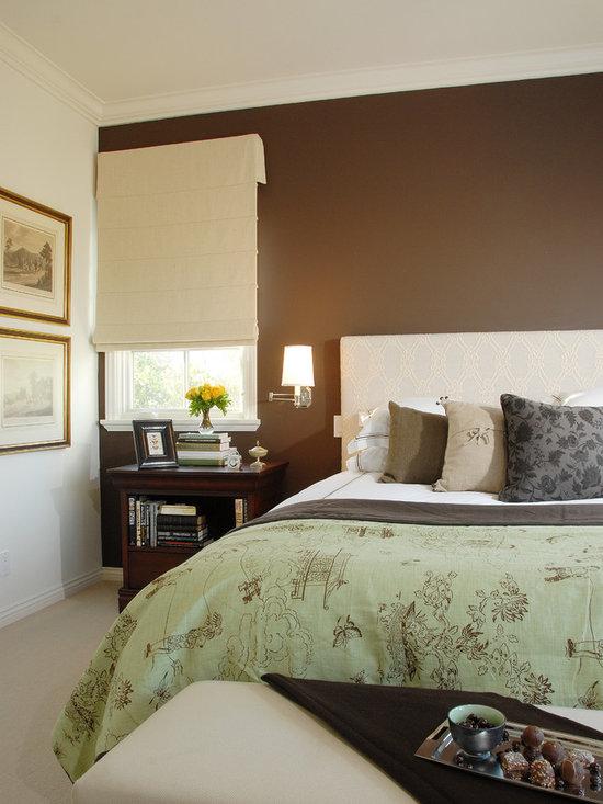 chocolate brown walls