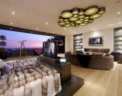 Beverly Hills media room contemporary-bedroom