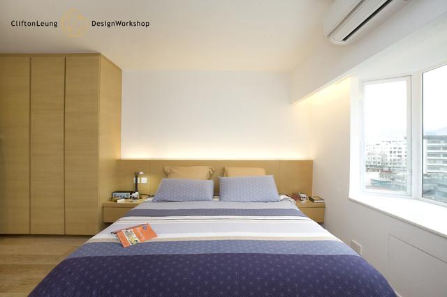 Beverly Villa - Modern Minimalist with a twist in trapezoid-shape highlights modern-bedroom