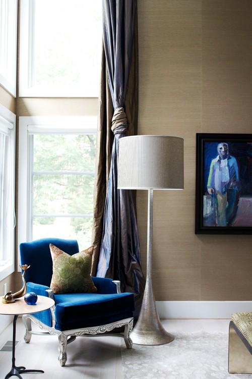絲質窗簾色光質感流轉室內