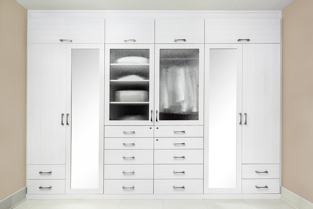 Bianco Wall To Wall Wardrobe Contemporary Bedroom