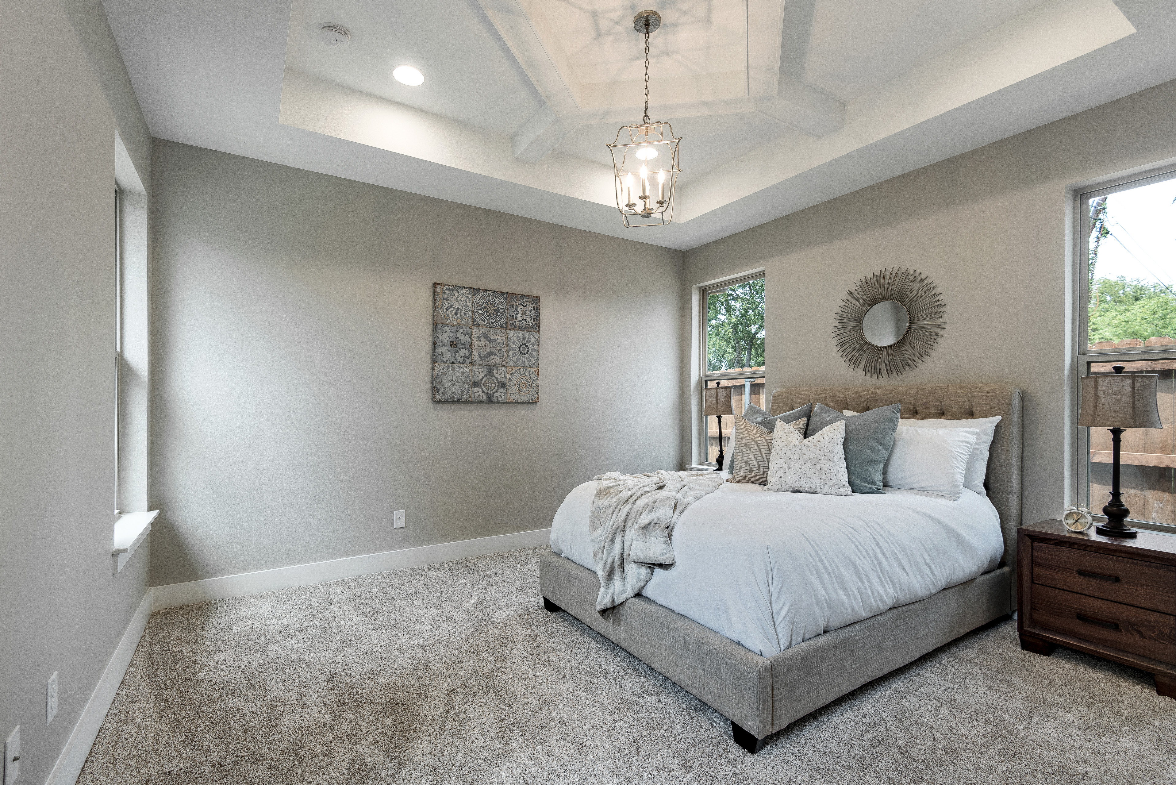 Master w/ Ceiling Detail and Design