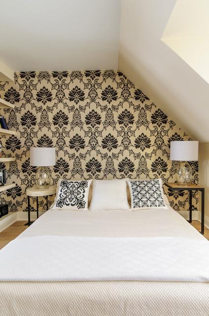 black and cream bedroom contemporary bedroom toronto by arc