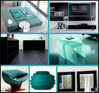 black and teal bedroom idea. Black Bedroom Furniture Sets. Home Design Ideas
