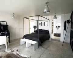 Black & White Apartment modern bedroom