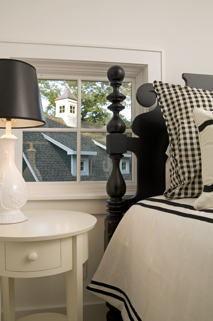 Black and White Bedroom traditional-bedroom