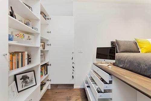 Come ottimizzare al massimo gli spazi di un piccolo for 5 piani di casa di camera da letto
