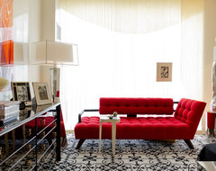 Black, White And Red All Over: Charles Pavarini III Design Associates, Inc. contemporary-bedroom