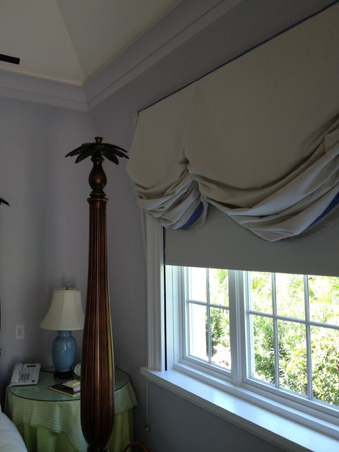 blackout motorized shades traditional-bedroom