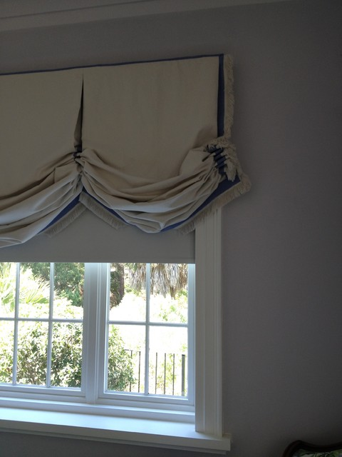 Blackout Motorized Shades Traditional Bedroom