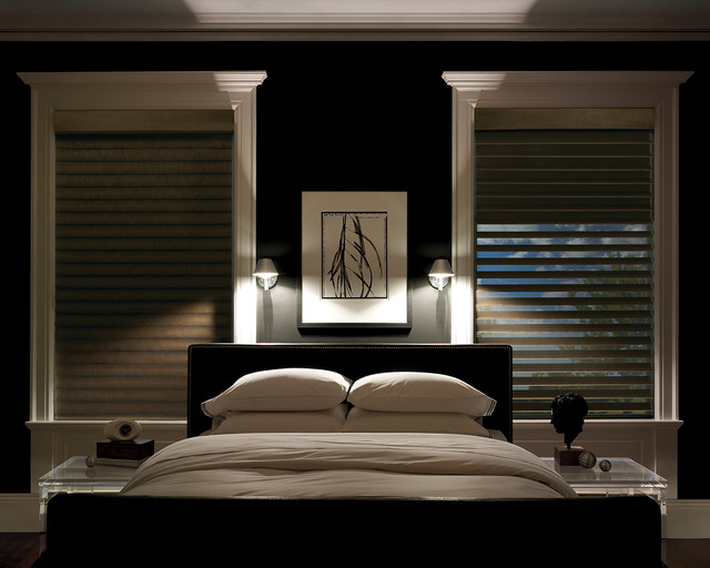 Charmant Blackout Window Treatments Contemporary Bedroom