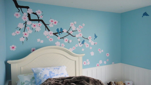 Blossoms and Blooms traditional-bedroom