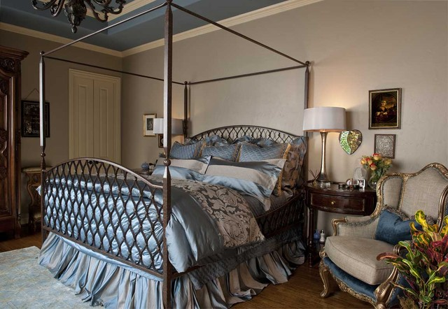 traditional master bedroom blue. Blue And Beige Master Bedroom Traditional-bedroom Traditional L