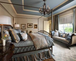 Blue And Beige Master Bedroom Traditional Bedroom